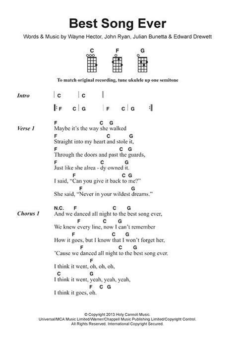 Best Song Ever Sheet Music | One Direction | Piano, Vocal