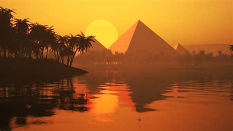 Sunset over the pyramids