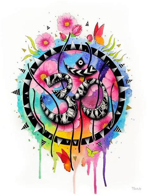 Best Om Colorful Art HD Image For Profile Picture - DP