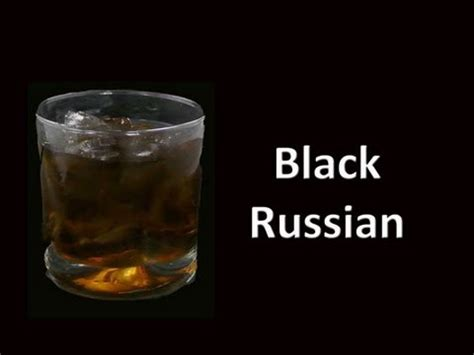Black Russian Cocktail Drink Recipe - YouTube