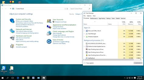 Shortcut key to Open Control Panel & Task Manager In