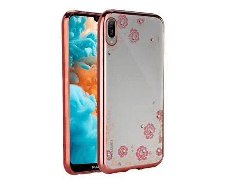 Husa Spate Forcell Bling Diamond Huawei Y6 2019 Rose Gold
